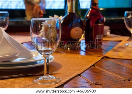 Served restaurant table - stock photo