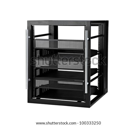 Server box  isolated on a white background - stock photo
