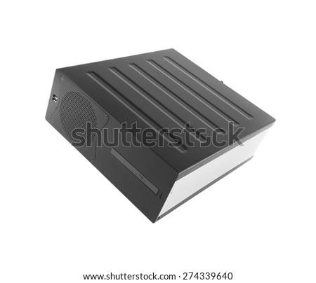 Server Case on white - stock photo