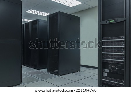 Server farm in data center