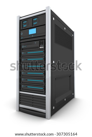 server high-end only (done in 3d, isolated)  - stock photo