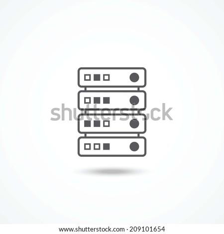 Server icon - stock photo