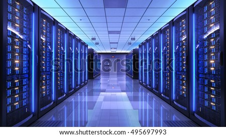 Server Racks Server Room Data Center Stock Illustration 495697993 ...