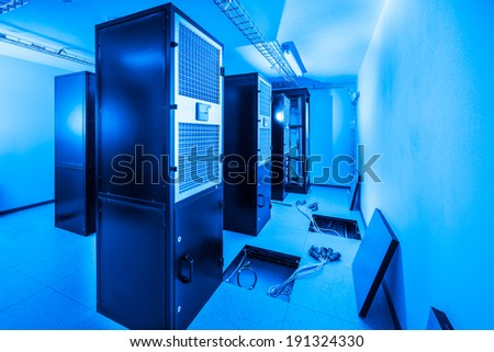 server room and data center - stock photo