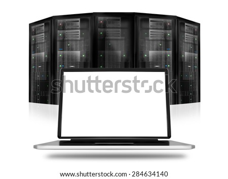 Server Room Datacenter - stock photo
