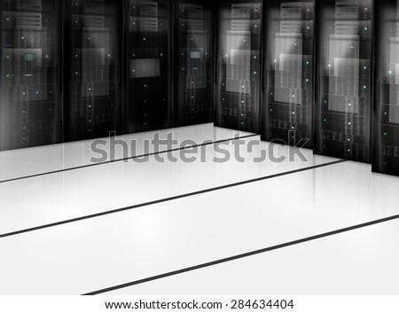 Server Room Datacenter - stock photo