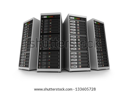 Servers, isolated - stock photo