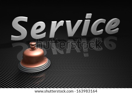 Service bell as a concept - stock photo