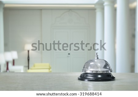 Service bell at the hotel - stock photo