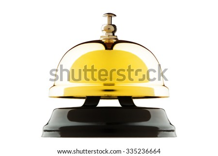 Service bell isolated on white background - stock photo