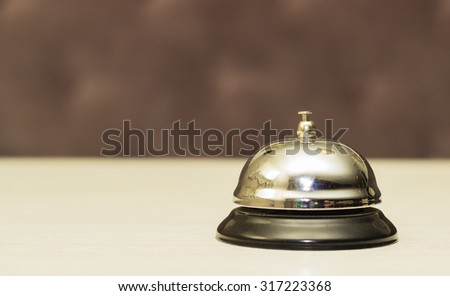 Service bell on reception