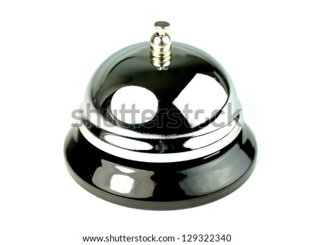 Service bell on white  background. - stock photo