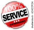 Service Button - stock photo