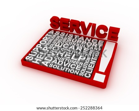 Service concept words - stock photo