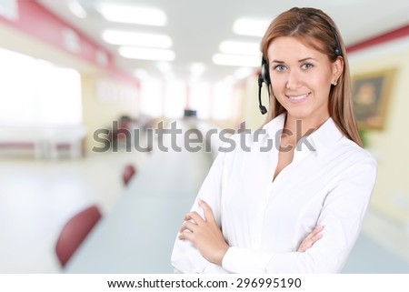 Service, Customer Service Representative, Women. - stock photo