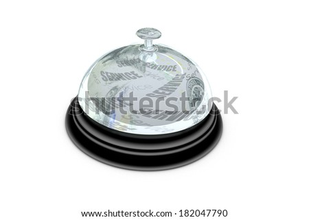 Service desk bell illustration isolated on white background - stock photo