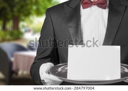 Service, Dinner, First Class. - stock photo