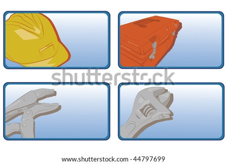 service industry buttons. Vector version also available. - stock photo