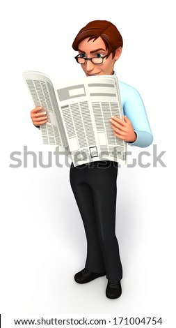 Serviceman with news paper