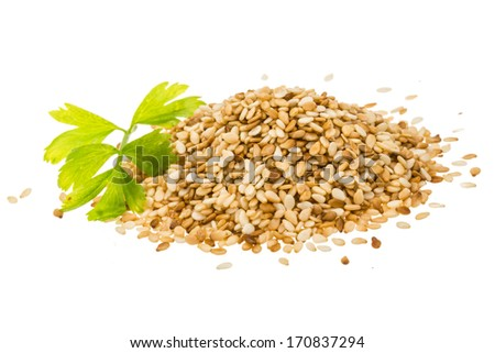 Sesam seeds isolated - stock photo