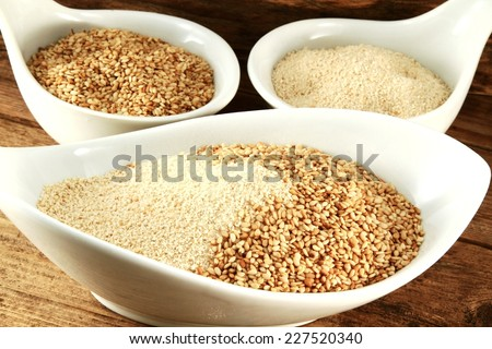 sesame mixture with breadcrumbs  - stock photo