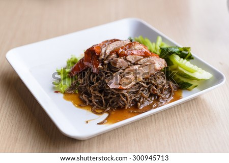 sesame noodles with roasted duck