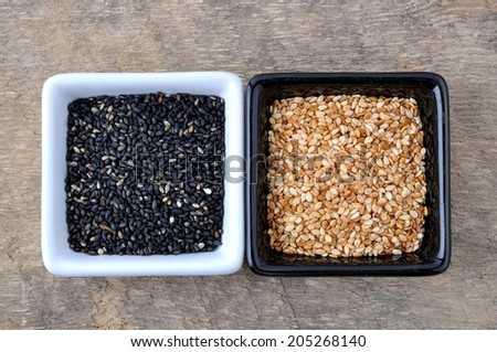 sesame seeds - stock photo