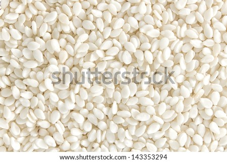 Sesame seeds background - stock photo