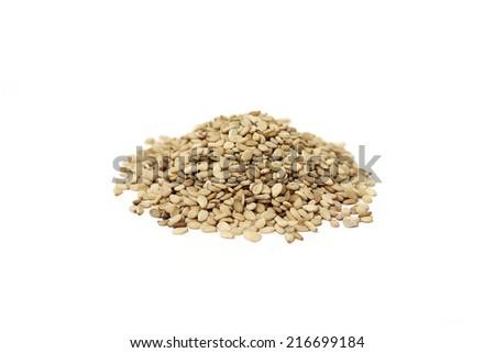 Sesame seeds - isolated - stock photo