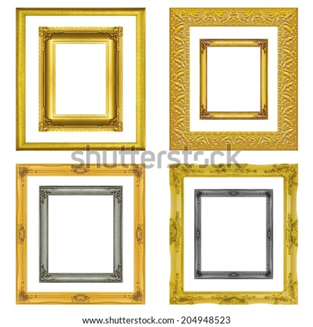 Set antique  frame isolated on the white background
