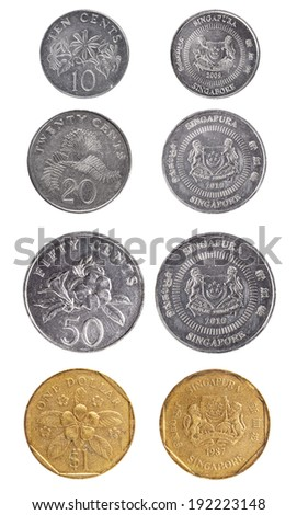 Set coin Singapore  - stock photo