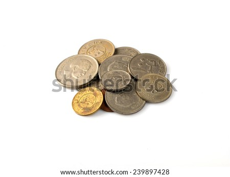 set coins Kuwait - stock photo