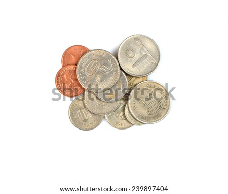 set coins Malaysia - stock photo