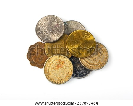 set coins Philippines - stock photo
