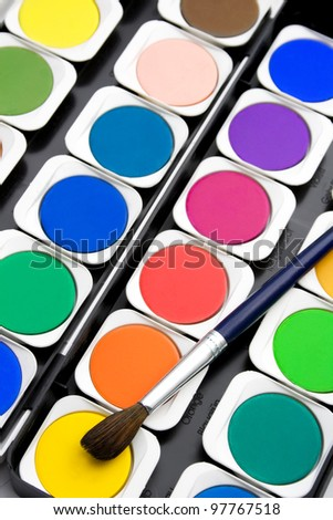 set color paint colorplate background - stock photo