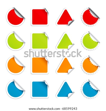 Set  color round stickers.( Vector Format  - 54720820 )