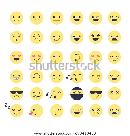Different chat emoticons