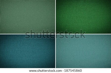 Set fabric texture background - stock photo
