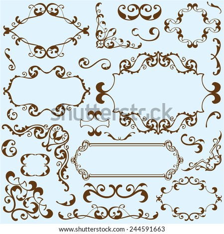 Free simple vector borders free vector download 7395
