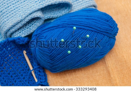 Set for knitting - stock photo