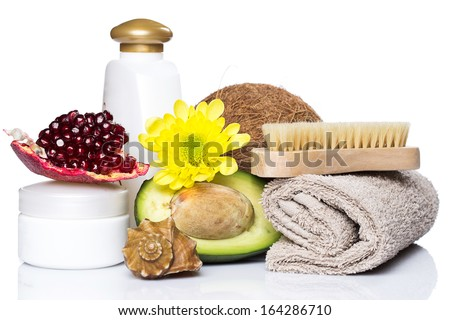 Set for massage or body care with different ingredients