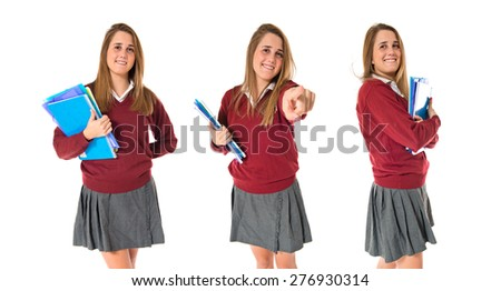 Set images of student - stock photo