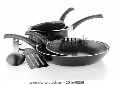 set kitchen utensils - stock photo