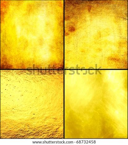 Set luxury golden texture. - stock photo