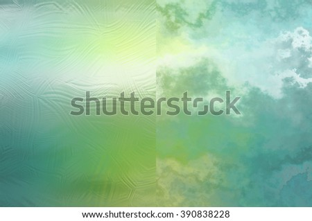 Set of abstract backgrounds blue and green