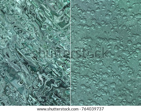 Set of abstract backgrounds blue and green. Stylish illustration.