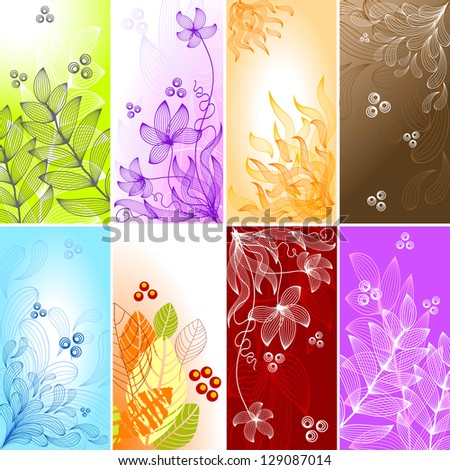 Set of abstract backgrounds. Raster version. Vector is also available in my gallery