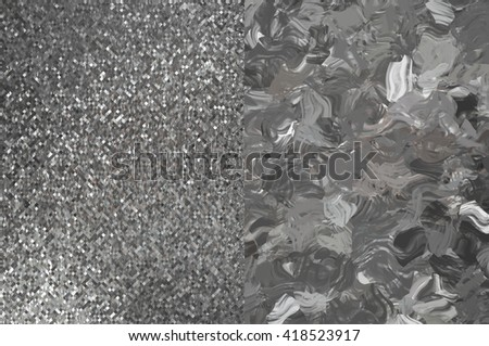 Set of abstract backgrounds silver