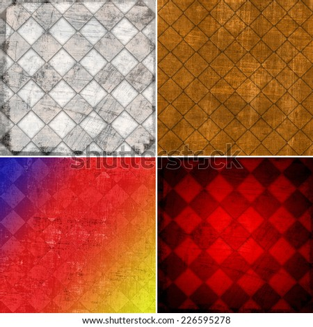 set of abstract color backgrounds  - stock photo