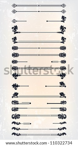 set of abstract frame pattern - stock photo